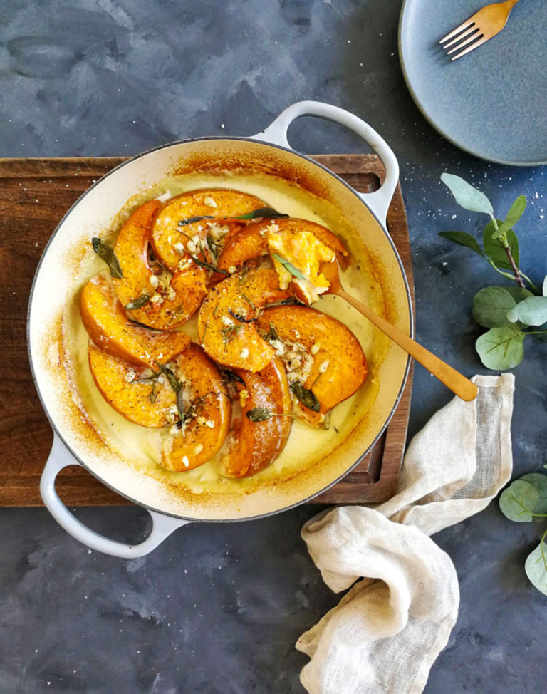Creamy Pumpkin, Parmesan & Herb Bake