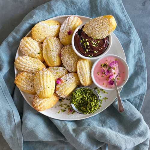 Financier Madeleines with a Middle Eastern Twist